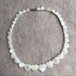 Vintage mother of pearl heart necklace